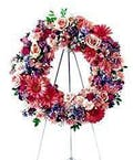 Sympathy Standing Wreath on an Easel